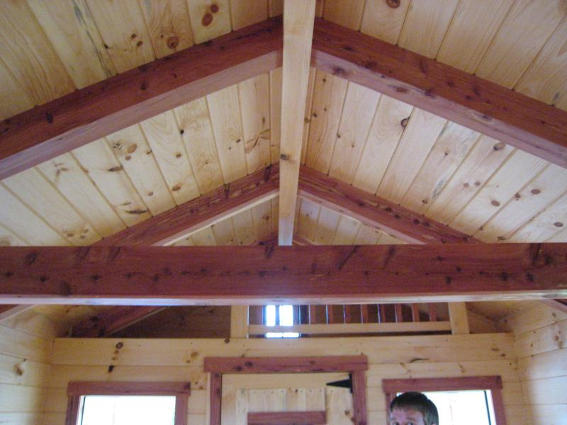 Painting Rough Cedar Ceiling Beams: SPECIAL PROMOTION10' X 16' (160