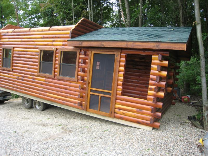 Trophy amish cabins llc cottageoptional items in red text for Split level kit homes