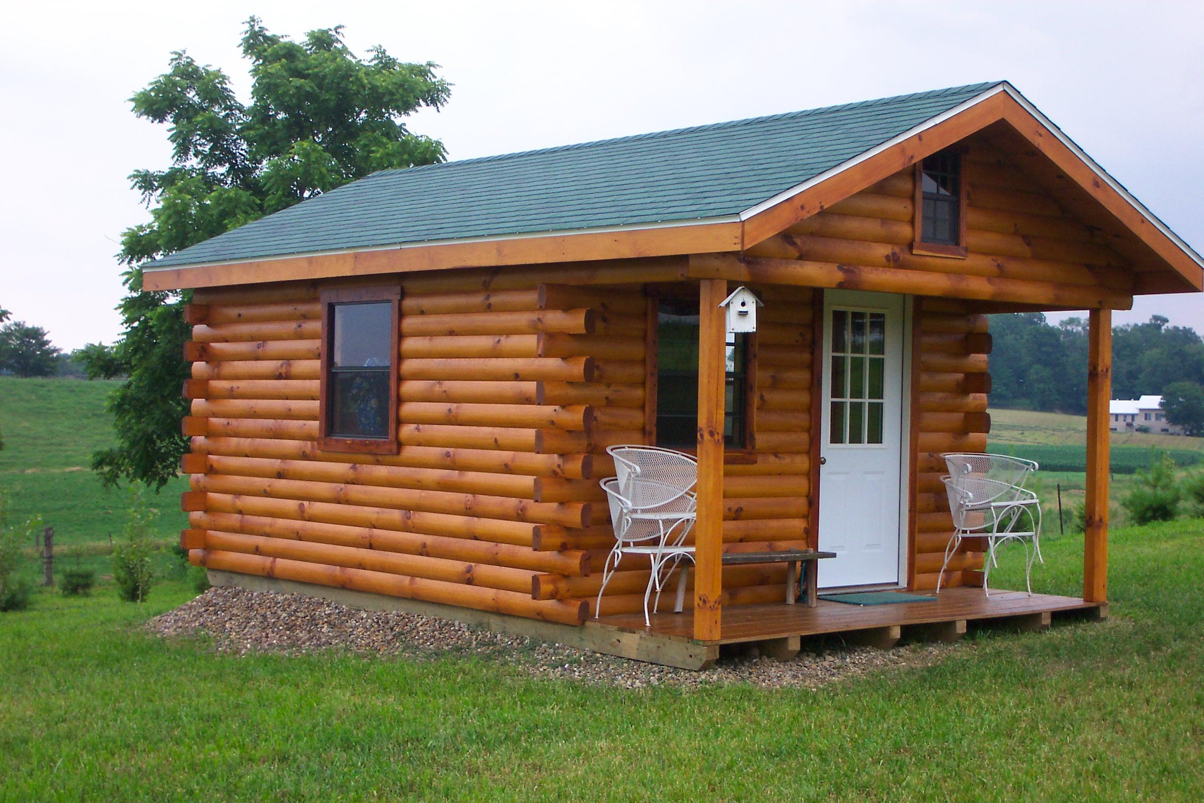 Sheds ottors hunting cabin plans free details for Pictures of small hunting cabins